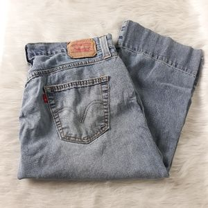 Levi's Low Slouch Button Fly Crop Jeans SZ7